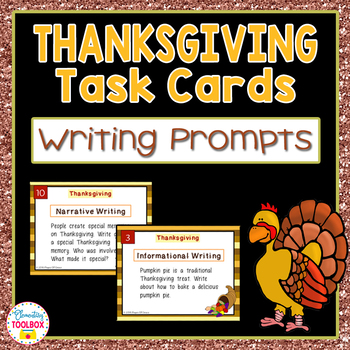 Thanksgiving Writing Prompts Task Cards