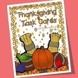 Thanksgiving Task Cards for Letters and Numbers