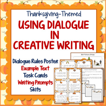 Thanksgiving, Teaching Dialogue in Creative Writing, Skits, Task Cards, History