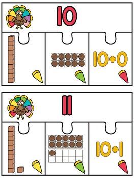 Thanksgiving Teen Number Activities
