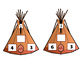 Thanksgiving Teepee Fact Triangle Task Cards- Addition & S