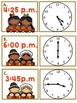 Thanksgiving Telling Time Math Centers (Four Centers Included)