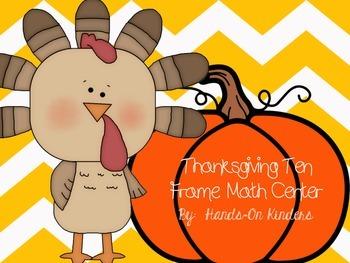 Thanksgiving Ten Frame Math Center