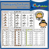 Thanksgiving Ten Frame Math Worksheets
