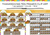 Thanksgiving Ten Frames Clip Art