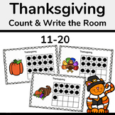 Thanksgiving Ten Frames, Count the Room 11-20 Math Activity