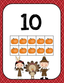Thanksgiving Ten Frames (Math Center)
