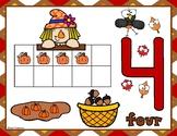 Thanksgiving Ten Frames and Play Dough Number Mats
