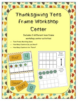Thanksgiving Tens Frame Workshop Game