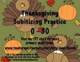 Thanksgiving Tens Frames 0-30 Subitizing Practice...Fall, Autumn, Thanksgiving
