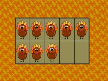 Thanksgiving Tens Frames