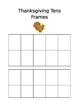 Thanksgiving Tens Frames