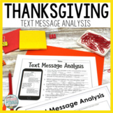 Thanksgiving Text Message Analysis Inferencing and Citing