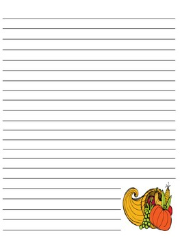 Thanksgiving Text Paper