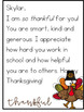 Thanksgiving Thank You Cards for Teachers (Freebie}