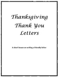 Thanksgiving Thank You Letters