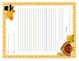 Thanksgiving Thank You Note Stationary