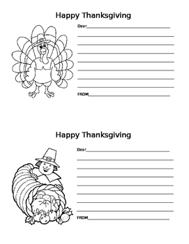 Thanksgiving Thank-You Note Template