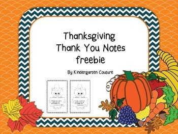 Thanksgiving Thank You Notes -freebie