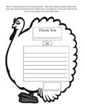 """Thanksgiving """"Thank You"""" Writing Assignment / Thanksgiving Card"""