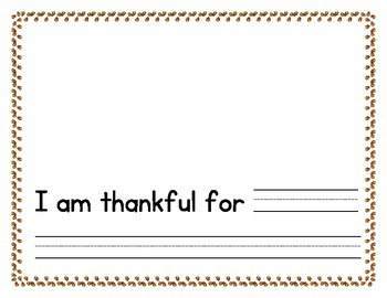 Thanksgiving: Thankful Book