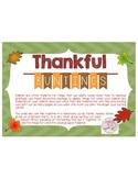"Thanksgiving ""Thankful For..."" {Bunting Pendant}"
