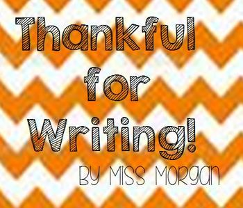 Thanksgiving Thankful For Writing