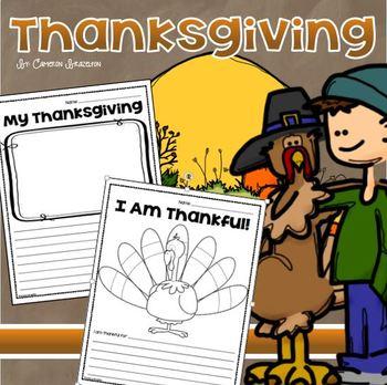 Thanksgiving Thankful Holiday Writing Activity Freebie