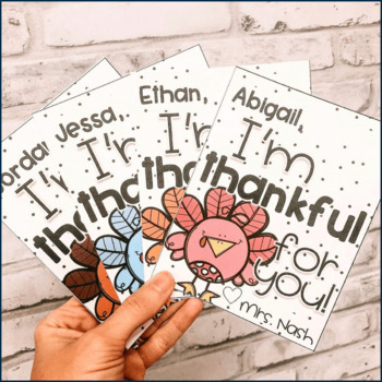 Thanksgiving Thankful Notes For Your Students