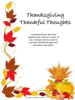 Thanksgiving Thankful Thoughts!