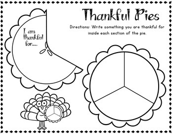 Thanksgiving Writing Craft: Thankful Pie Activity