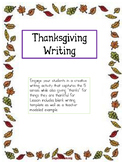Thanksgiving Thankful Writing Using the 5 senses