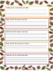 Thanksgiving Thankful Writing Using the 5 senses