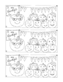 Thanksgiving Thankful for Students Bookmark Printable Coloring Page PDF