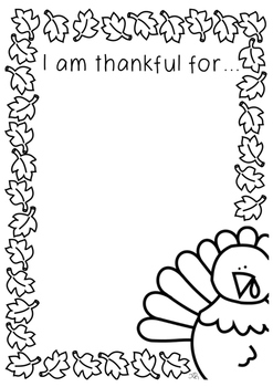 Thanksgiving-Thankful for activity