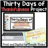 Thanksgiving Thankfulness Daily Journal for November: Print, Cut, Go!