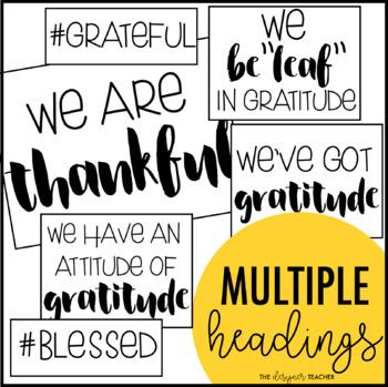 Fall November Thankfulness Thanksgiving Bulletin Board Kit