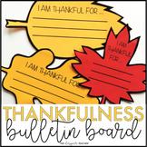 November Bulletin Board | I Am Thankful Thanksgiving Craft