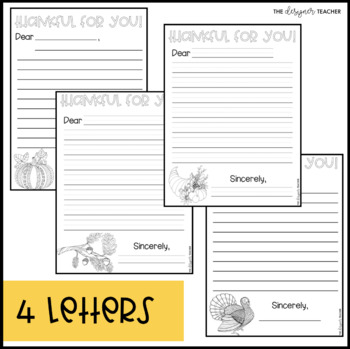 Thanksgiving Writing Activity   Thanksgiving Letters   Thankfulness Letters