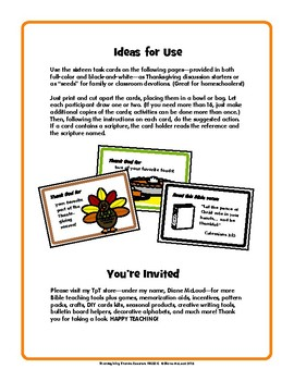 Thanksgiving Thanks Boosters FREEBIE! - for Christian Classrooms and Families