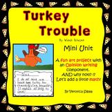 Thanksgiving, Thanksgiving Activities, Thanksgiving Writing Turkey Trouble