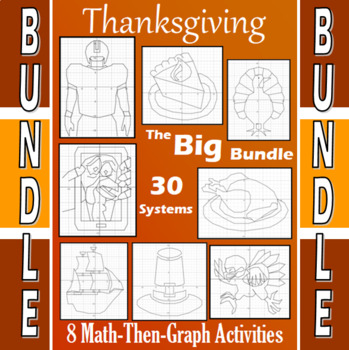 Thanksgiving - The Big Bundle - 8 Math-Then-Graph Activities - 30 Systems