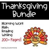 Thanksgiving Reading Comprehension Math Writing Morning Work