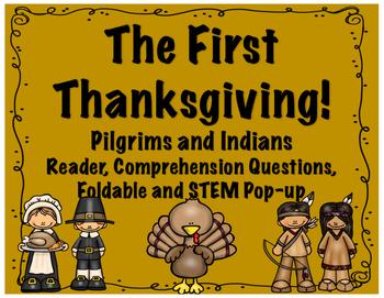 Thanksgiving-The First Thanksgiving Reader, Comprehension, STEM Pop-up!