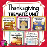 Thanksgiving Thematic Unit BUNDLE: 6 Activities for Grades 4, 5, 6