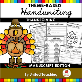 Thanksgiving Handwriting Lessons (Manuscript Edition)