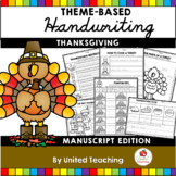Thanksgiving Handwriting Lessons (Manuscript Edition)