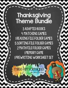 Thanksgiving Theme Bundle: 17 Thanksgiving Themed Products