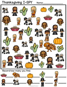 Thanksgiving Theme Bundle Differentiated