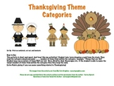 Thanksgiving Theme Categories
